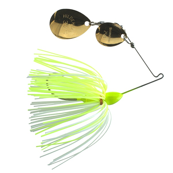 Creek Spin 32CW - #3.5 Gold and #2.5 Gold with Chartreuse/White Skirt