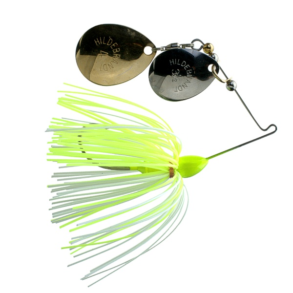 Creek Spin 43CW - #4 Gold and #3.5 Nickel with Chartreuse/White Skirt